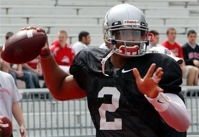 Terrelle Pryor during spring workouts