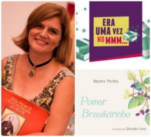 Narradora e escritora Beatriz Beatriz Myrrha lança livro Pomar Brasileirinho
