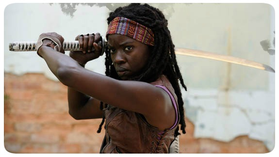 "Michonne - Personagem da Série ""The Walking Dead"""