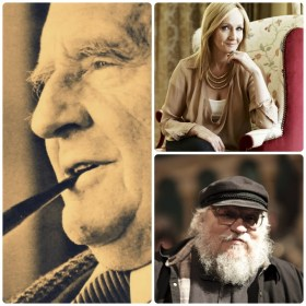 J. R. R. Tolkien, J. K. Rowling e George R. R. Martin