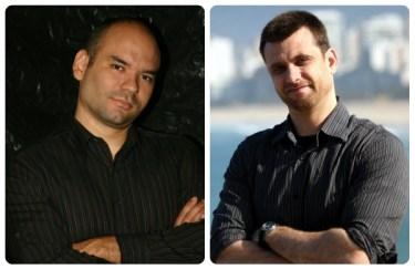 Escritores André Vianco e Eduardo Spohr