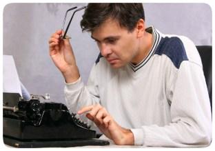 Escritor na Máquina de Escrever