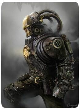 Steampunk Iron Man - Arte por Mateusz Ozminski