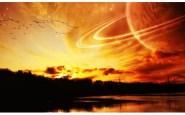 Alien Sky - Saturn - Moon - Sunset - Sunrise