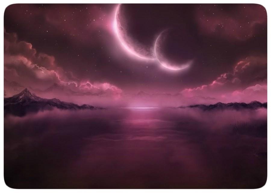 Alien Sky - Two Moons - Twin Moons