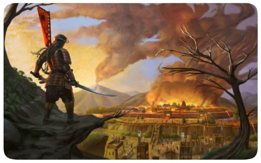 Samurai - Katana - Cidade Imperial - Chamas