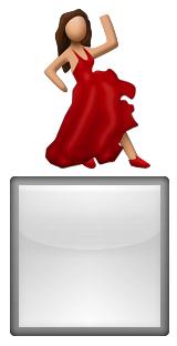 señora de rojo...