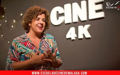 Charla de la actriz Susana Cruzado a los alumnos de la Escuela de Cine de Málaga