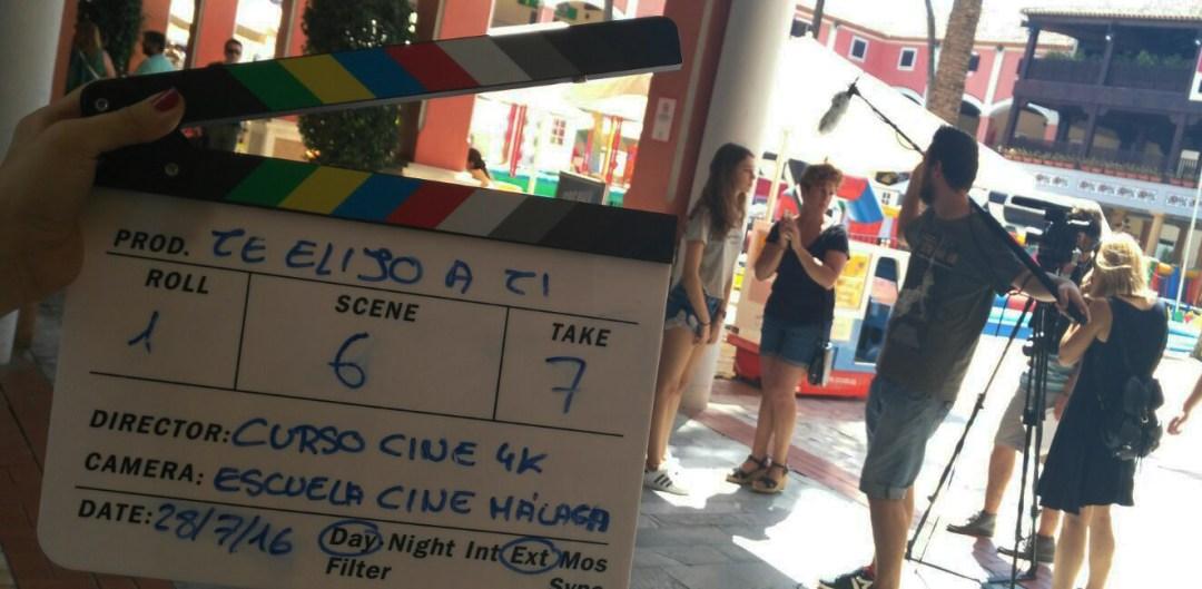 Escuela de Cine de Málaga - Curso de cine 4k - rodaje Te Elijo a Ti 4