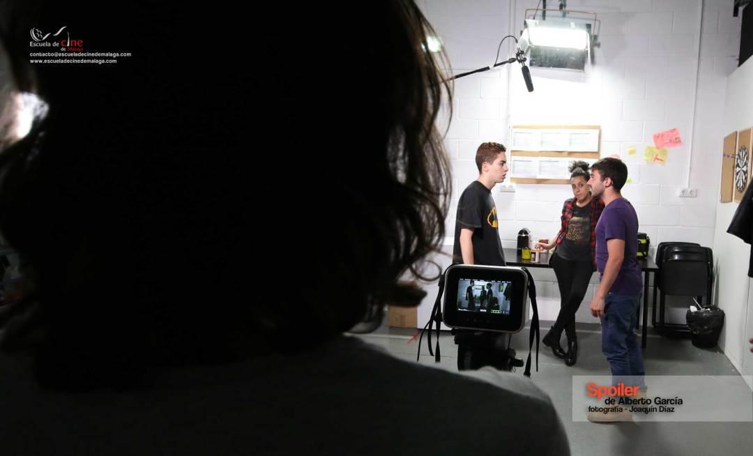 Rodaje Spolier, un cortometraje de Alberto García
