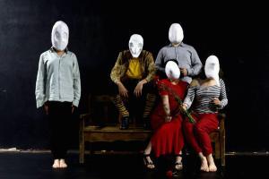 Máscaras Larvarias. Alumnado de 1º curso