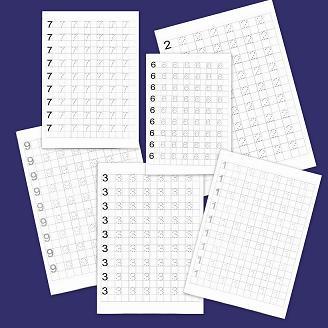 grafomotricidad con los números del 1 al 10