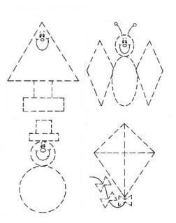 Figuras Geometricas Para Recortar Escuela En La Nube