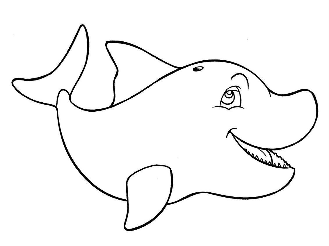 Dibujos De Animales Marinos Para Colorear: Animales Acuáticos Para Colorear