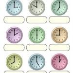 Fichas para aprender las horas del reloj