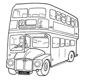 2autobuses para colorear