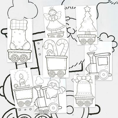 dibujos para colorear, navidad