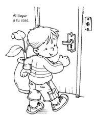 Dibujos para colorear para enseñar higiene personal en los niños
