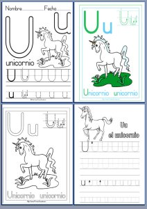 Fichas de lectoescritura con las letras del abecedario