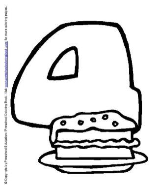 Dibujos para colorear: Fiesta de cumpleaños