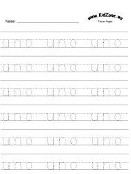 Fichas para lectoescritura con numeros