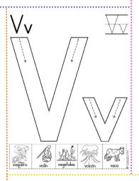 Lectoescritura con las letras del abecedario