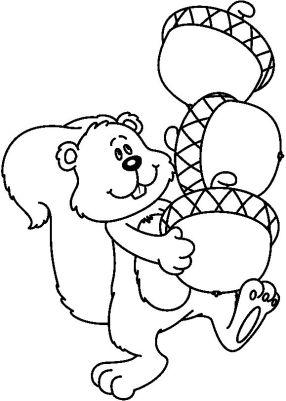 Dibujos para colorear de animales en primavera