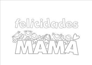 Dia De La Madre Dibujos Para Colorear Y Regalar A Mama