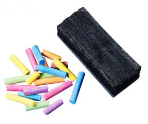 Chalk and Eraser