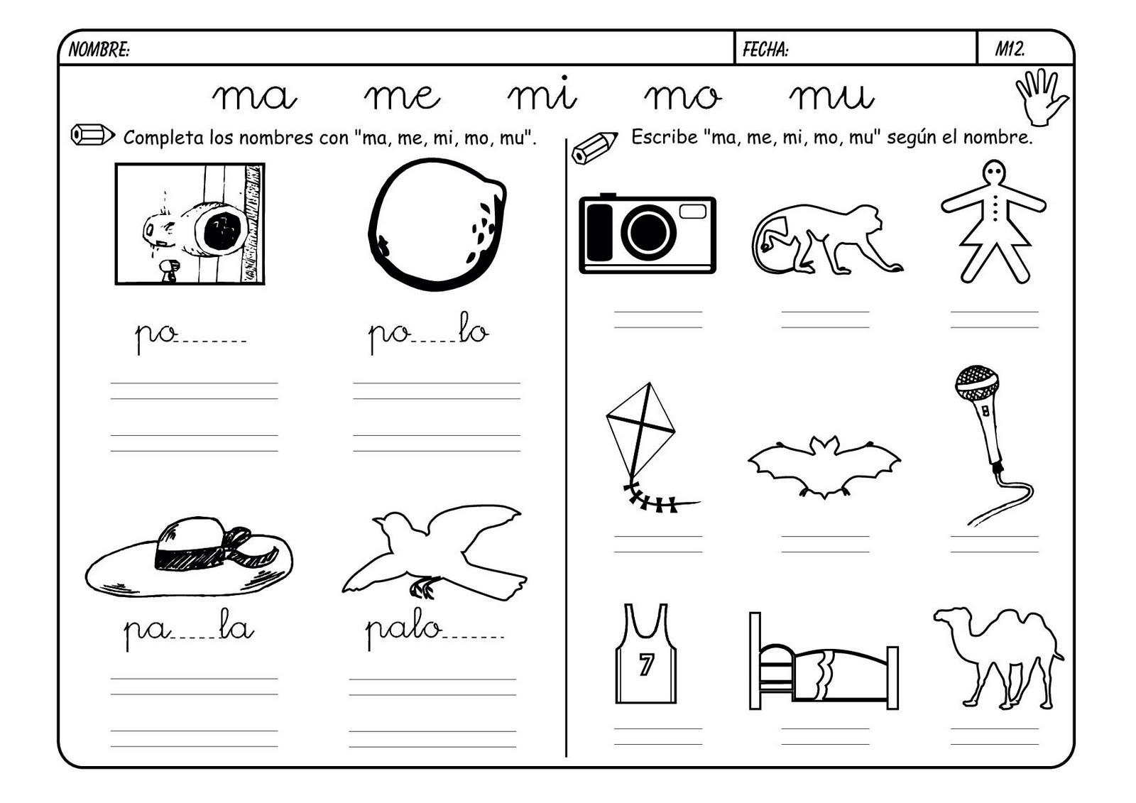 Recursos Para El Aula Lectoescritura Con La M
