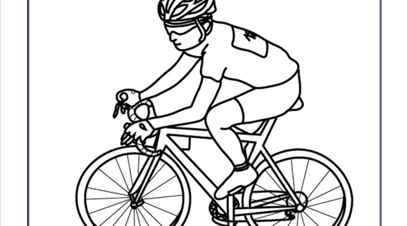 Dibujos de deportes para colorear for Bicicletta immagini da colorare