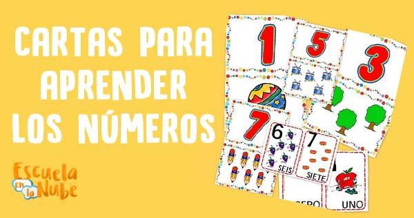cartas de números