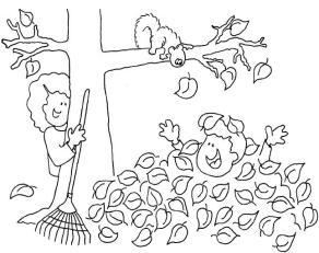 dibujos colorear otoño 15