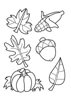 dibujos colorear otoño 34