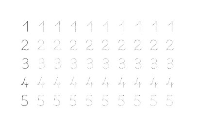 grafomotricidad con numeros 01