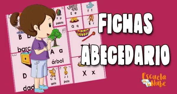fichas para aprender el abecedario
