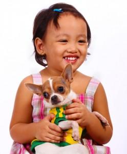 crianza de los niños con mascotas