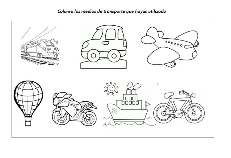 Fichas Educativas Los Medios De Transporte