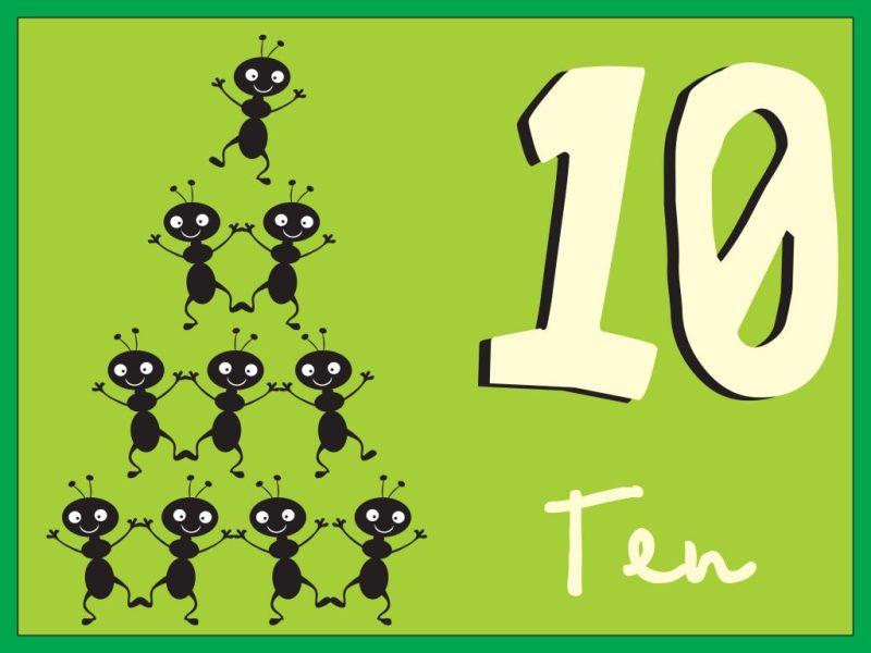números en inglés 10
