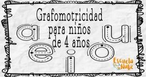 Fichas de grafomotricidad 4 años