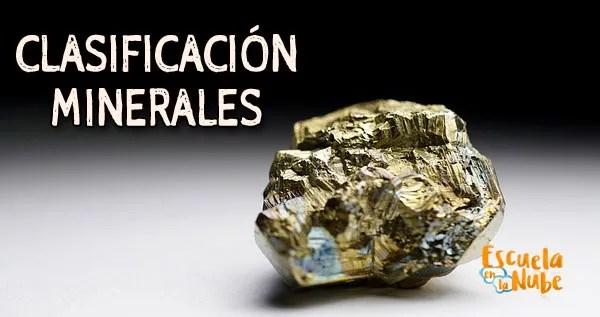 clasificación minerales
