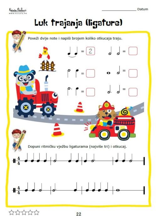Teorija Glazbe 2, Vježbenica