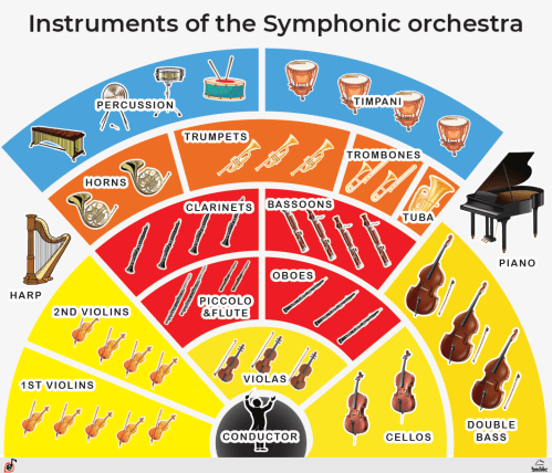 Instruments of the Symphonic orchestra Poster, PDF
