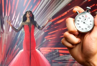 Aminata Savadoga with a stopwatch imposed on top of the photograph, demonstrating the issues with time constraints within a 3 minute rule.
