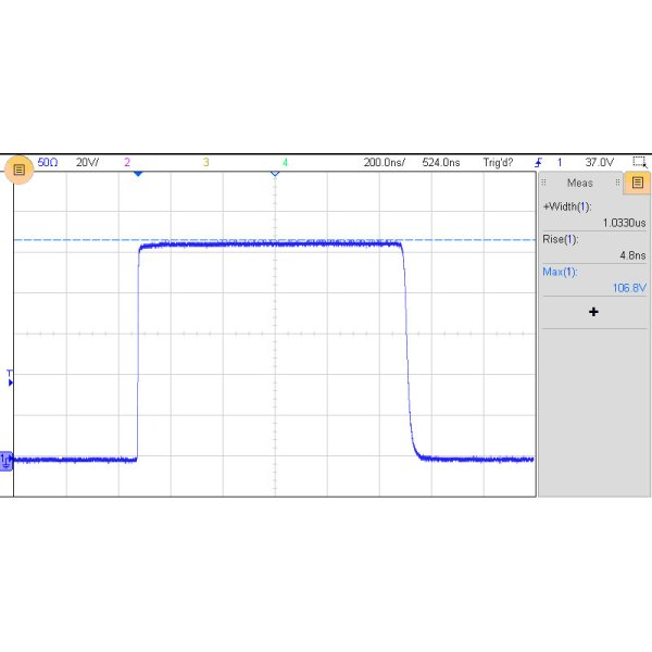 EOS-500 Electrical Overstress Pulse Generator pulse waveforms