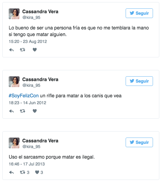 Image result for tweets de cassandra vera