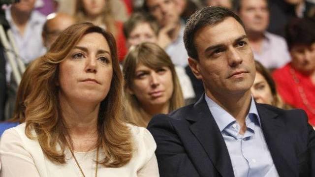 Pedro Sánchez junto a Susana Díaz.