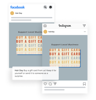 Gift card template in FB