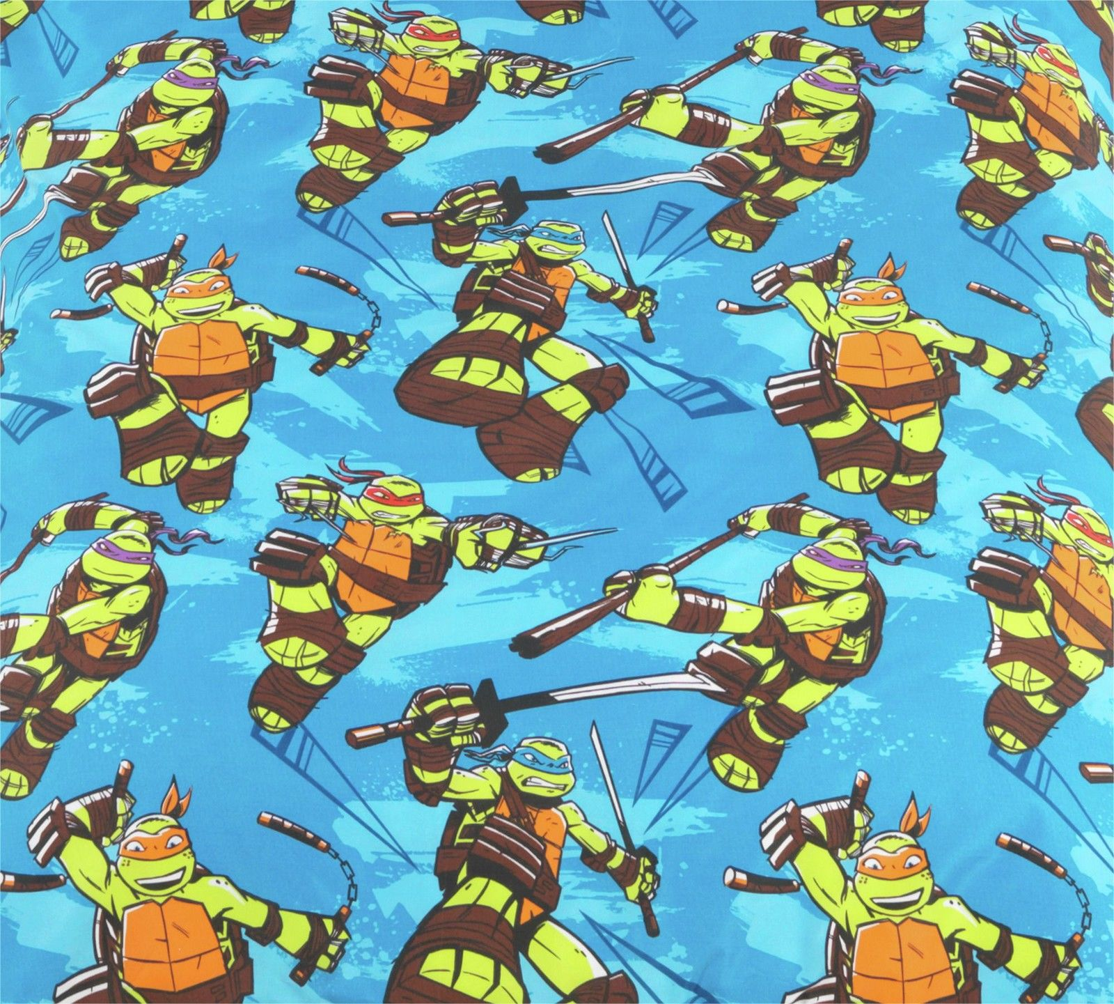 TEENAGE MUTANT NINJA TURTLES CINMA DUVET INDIVIDUEL BLEU