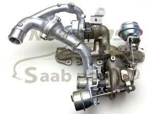 Genuine Twin Turbo Charger Saab 93 0812 19 TTiD Z19DTR